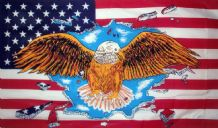 USA EAGLE - 5 X 3 FLAG